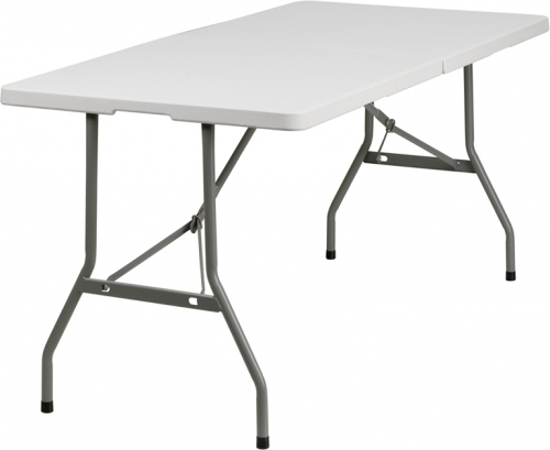 Flash Furniture  30''W x 60''L Plastic Bi-Folding Table [RB-3060FH-GG]