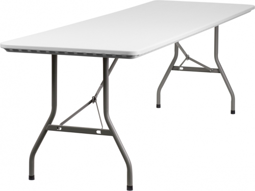 Flash Furniture  30''W x 96''L Plastic Folding Table [RB-3096-GG]