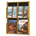 Aarco LRC114 Clear-VU Combination Pamphlet / Magazine Display - 8 Pamphlets, 4 Magazines
