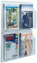"""Aarco LRC104 Clear-Vu Magazine and Literature Display - 4 Pocket 25"""" x 21"""""""