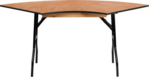 Flash Furniture  5.5 ft. x 2.5 ft. Serpentine Wood Folding Banquet Table [YT-WSFT48-30-SP-GG]