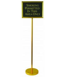 Aarco TY-2B The Director Changeable Sign Stand with Gold Frame 54""