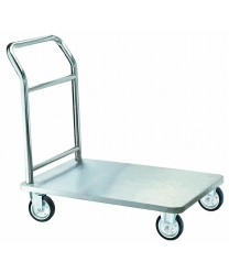 Aarco SB-1C  Four Wheeled Bellman's Hand Truck, Chrome Finish