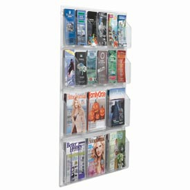 Aarco LRC110  Clear-VU Combination Pamphlet / Magazine Display-6 Pamphlets, 12 Magazines