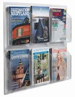 """Aarco LRC103 Clear-Vu Magazine and Literature Display - 6 Pocket  25"""" x 30"""""""