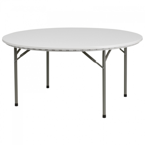 Flash Furniture  60'' Round Granite White Plastic Folding Table [RB-60R-GG]