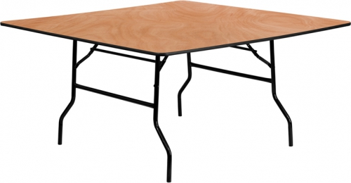 Flash Furniture 60'' Square Wood Folding Banquet Table [YT-WFFT60-SQ-GG]