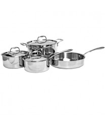 Thunder Group SLCK007 Try-Ply 7-Piece Stainless Steel Cookware Set