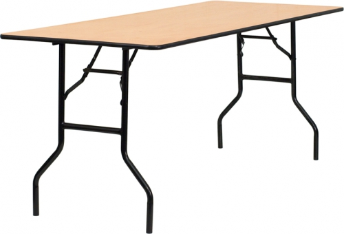 Flash Furniture  72'' Rectangular Wood Folding Banquet Table with Clear Coated Finished Top [YT-WTFT30X72-TBL-GG]