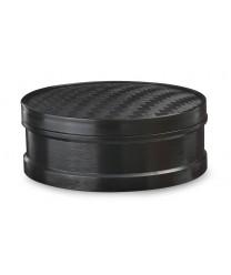 "GET Enterprises STM-85-BK Black Plastic Steamer Set 8.5""(1 Dozen)"