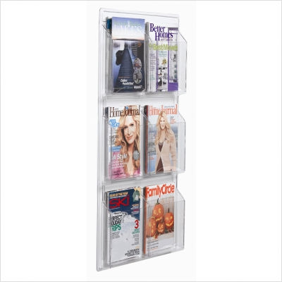 "Aarco LRC101 Clear-Vu Magazine and Literature Display - 9 Pocket 37"" x 30"""