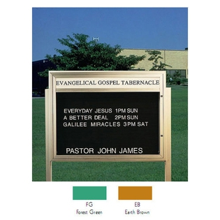 "Aarco BM3343EB Single Sided Illuminated Community Board with Header, Earth Brown Powder Finish 33"" x 43"""