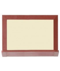 """Aarco 420OD1824V2 Architectural High Performance Low Gloss White Porcelain Markerboard with Oak Wood-Look Aluminum Trim 18"""" x 24"""""""