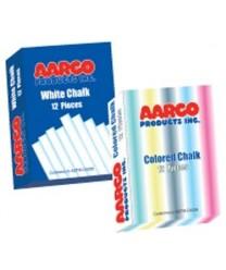 Aarco CCS-144 12 Piece Colored Chalk Box - 144 Boxes