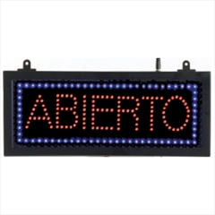 "Aarco ABI08S Small High Visibility LED ABIERTO Sign 6 3/4"" x 16 1/8"""