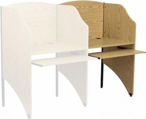 Flash Furniture  Add-On Study Carrel in Oak Finish [MT-M6202-OAK-ADD-GG]