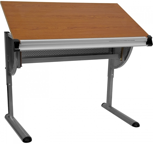 Flash Furniture  Adjustable Drawing and Drafting Table with Pewter Frame [NAN-JN-2433-GG]