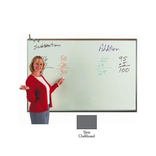 Aarco 120A-23CS Porcelain Enamel On Steel Chalkboard, Slate 2' x 3'