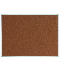 "Aarco DB3648 Natural Pebble Grain Cork Bulletin Board with Aluminum Frame 36"" x 48"""
