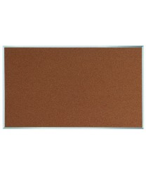 "Aarco DB3660 Natural Pebble Grain Cork Bulletin Board with Aluminum Frame 36"" x 60"""