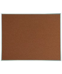 "Aarco DB4860 Natural Pebble Grain Cork Bulletin Board with Aluminum Frame 48"" x 60"""