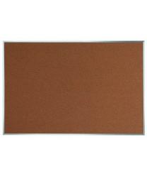 "Aarco DB4872 Natural Pebble Grain Cork Bulletin Board with Aluminum Frame 48"" x 72"""