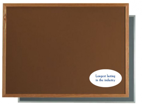 "Aarco DW2436166 VIC Cork Bulletin Board with Aluminum Frame, Tan 24"" x 36"""