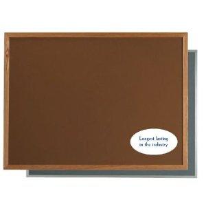 "Aarco DW2436182 VIC Cork Bulletin Board with Aluminum Frame, Grey 24"" x 36"""
