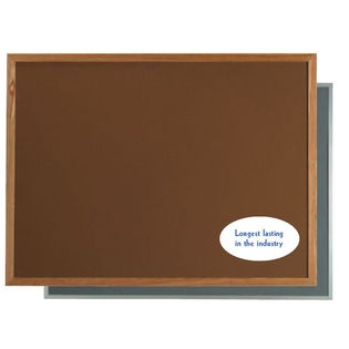 "Aarco DW2436203 VIC Cork Bulletin Board with Aluminum Frame, Green 24"" x 36"""