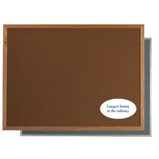 "Aarco DW2436204 VIC Cork Bulletin Board with Aluminum Frame, Dark Grey 24"" x 36"""