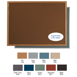 """Aarco DW3648185 VIC Cork Bulletin Board with Aluminum Frame, Blue 36"""" x 48"""""""