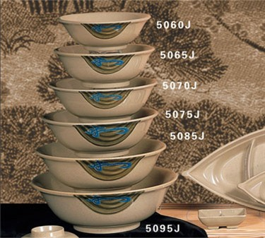 Thunder Group 5060J Wei Rimless Bowl 17 oz. (1 Dozen)
