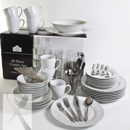 10 Strawberry Street SM-80RD 80-Piece Complete Round Dinnerware Set : large dinnerware sets - pezcame.com