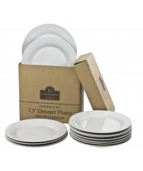 10 Strawberry Street CATERING-12(SALAD) Round Salad / Dessert Plates 7-1/2
