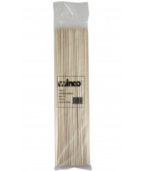 "Winco WSK-12 Bamboo Skewers, 12"", (100/Bag)"