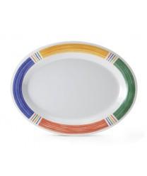 "GET Enterprises OP-950-BA Diamond Barcelona Oval Platter, 9-3/4""x 7-1/4""(2 Dozen)"