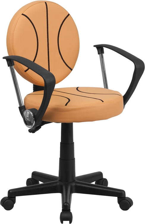 Flash Furniture Basketball Task Chair with Arms [BT-6178-BASKET-A-GG]