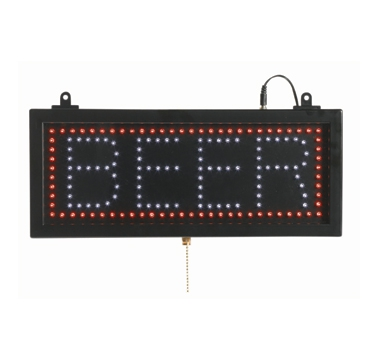 "Aarco BEE06S Small High Visibility LED BEER Sign 6 3/4"" x 16 1/8"""