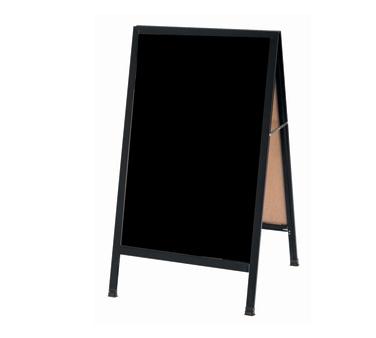 "Aarco BA-1BP A-Frame Sidewalk Board with Black Acrylic Board and Black Aluminum Frame 42""x24"""