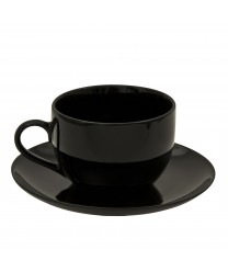 10 Strawberry Street BCP0009 Black Coupe Cup and Saucer 8 oz. - Case of 24