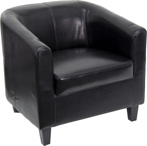 Flash Furniture  Black Leather Office Guest Chair / Reception Chair [BT-873-BK-GG]
