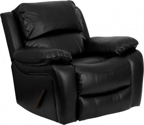 Flash Furniture  Black Leather Rocker Recliner [MEN-DA3439-91-BK-GG]