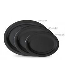 """GET Enterprises OP-135-BK Black Elegance Oval Platter, 13-1/2""""x 10-1/4""""(1 Dozen)"""