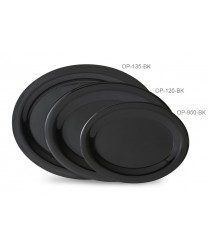 """GET Enterprises OP-950-BK Black Elegance Oval Platter, 9-3/4""""x 7 1/4' (2 Dozen)"""