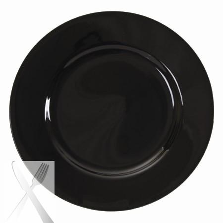 10 Strawberry Street BRB0001 Black Rim Dinner Plate 10-3/4'' - Case of 24