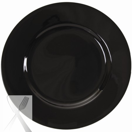 10 Strawberry Street BRB0024 Black Rim Charger Plate 12-1/4'' - Case of 12