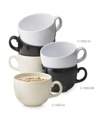 GET Enterprises C-1002-BK Black Elegance Melamine Coffee Mug, 24 oz. (1 Dozen)