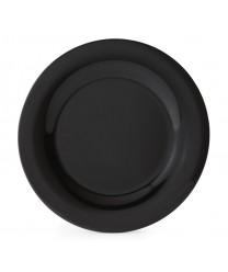 """GET Enterprises WP-10-BK Black Elegance Wide Rim Plate, 10-1/2""""(1 Dozen)"""