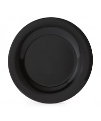 "GET Enterprises WP-6-BK Black Elegance Wide Rim Plate, 6-1/2""(4 Dozen)"