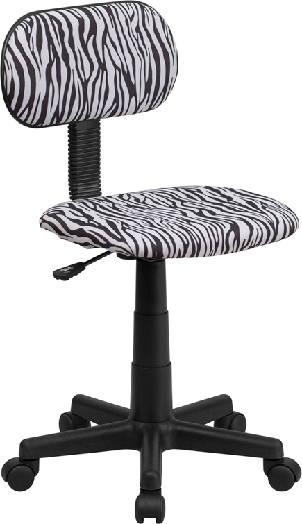 Flash Furniture Bllack and White Zebra Print Computer Chair [BT-Z-BK-GG]